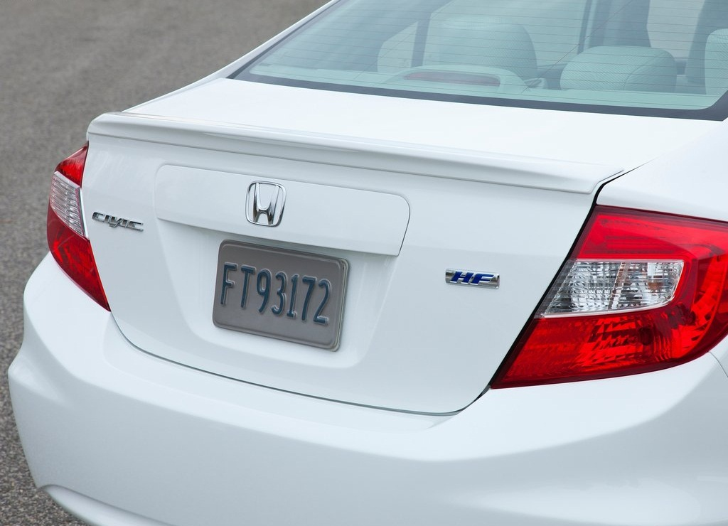 2012 Honda Civic HF Rear (Photo 6 of 7)