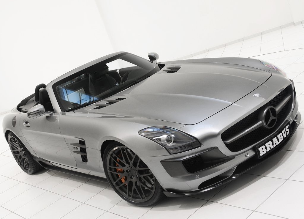 2012 Brabus Mercedes Benz SLS AMG Roadster Front Angle (Photo 4 of 9)