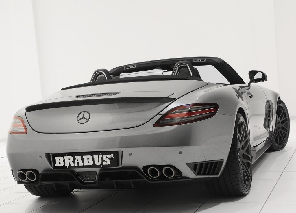 2012 Brabus Mercedes Benz SLS AMG Roadster Rear (Photo 6 of 9)