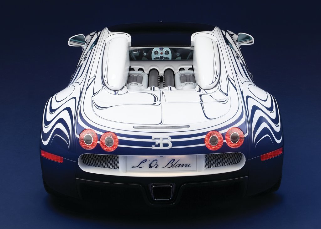 2011 Bugatti Veyron Grand Sport LOr Blanc Rear (View 5 of 8)