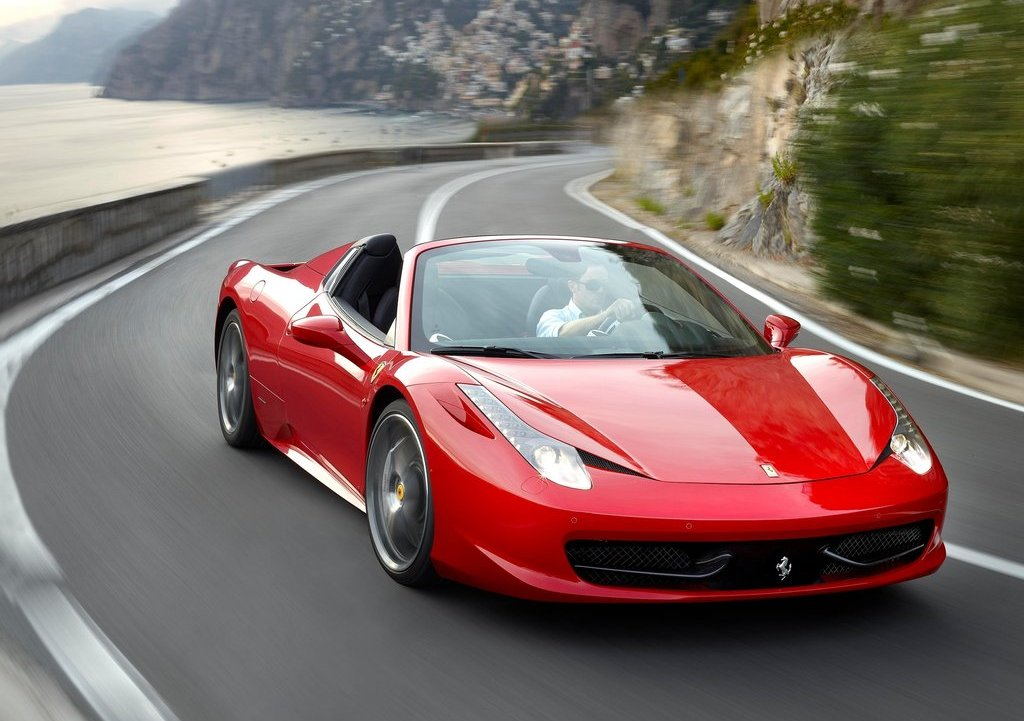 2013 Ferrari 458 Spider Front Angle (Photo 5 of 11)