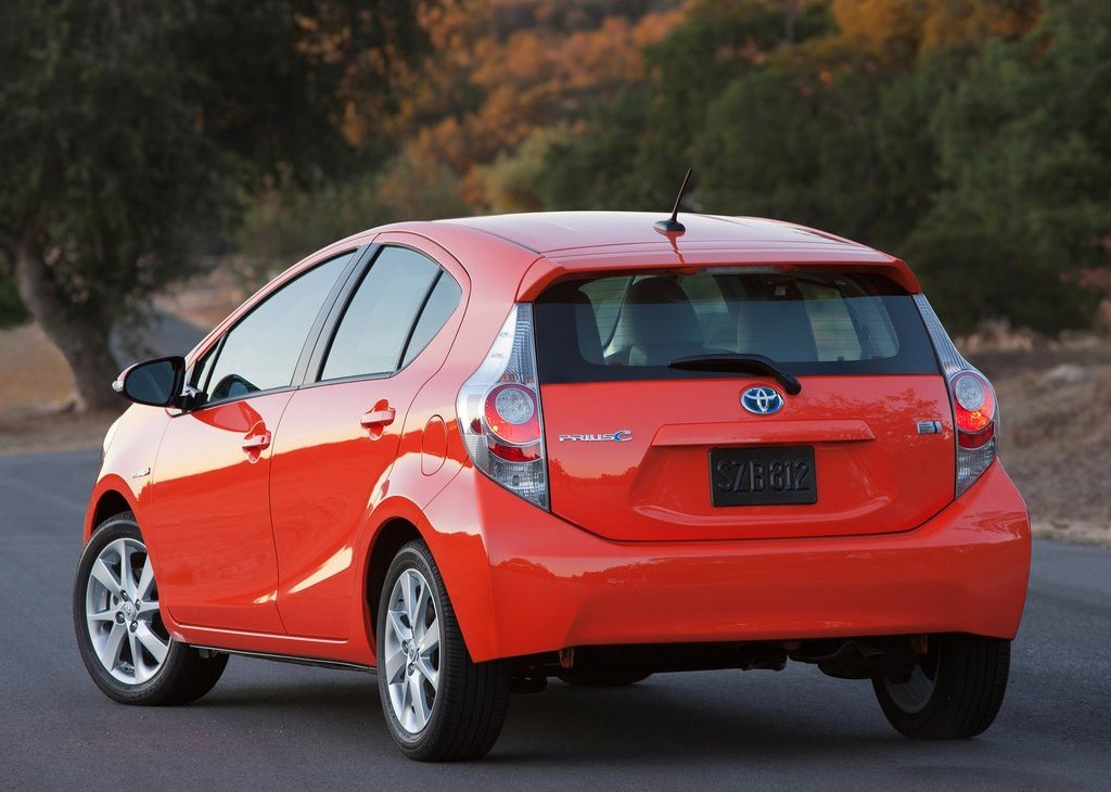 2012 Toyota Prius C Rear (View 6 of 10)