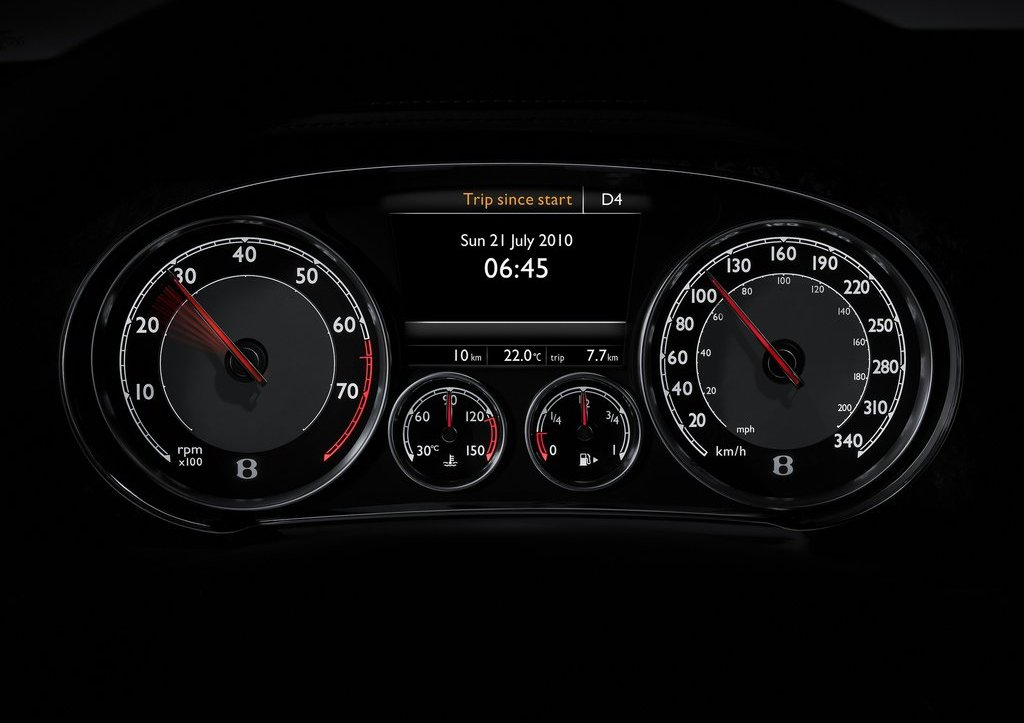 2012 Bentley Continental GT Speedometer (Photo 29 of 32)