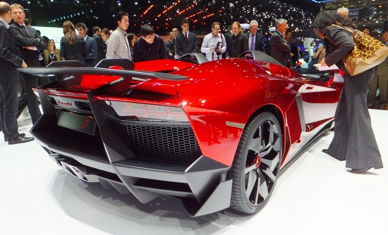 2012 Lamborghini Aventador J Rear Angle (Photo 7 of 11)