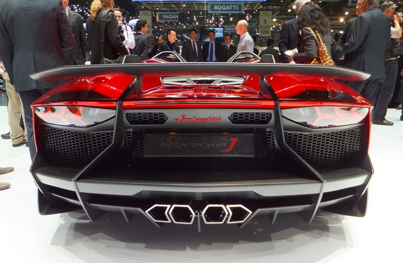 2012 Lamborghini Aventador J Rear (View 9 of 11)