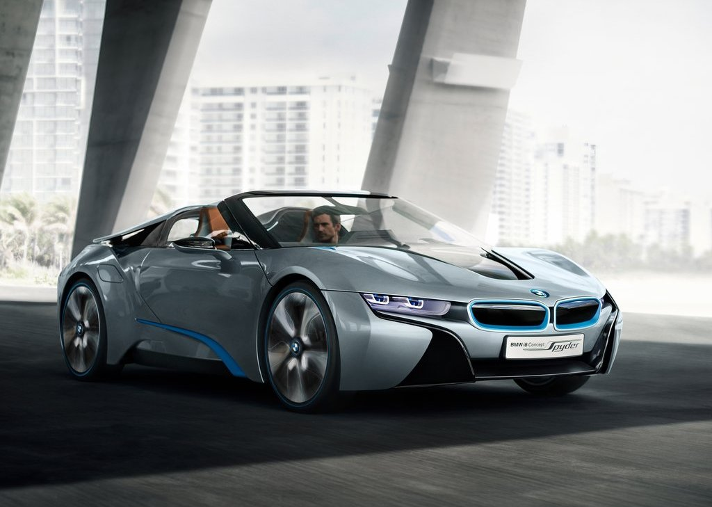2013 BMW I8 Spyder Front Angle (Photo 9 of 17)