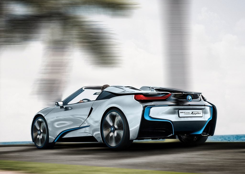 2013 BMW I8 Spyder Rear Angle (Photo 14 of 17)