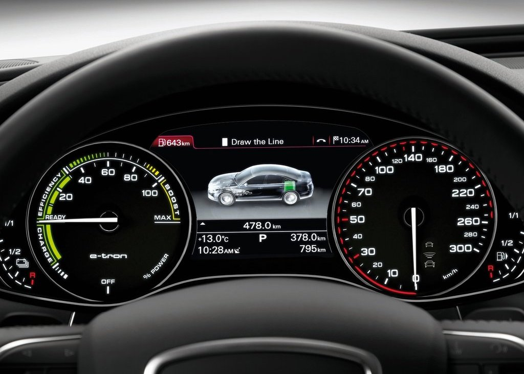 2012 Audi A6 L E Tron Speedometer (Photo 14 of 14)