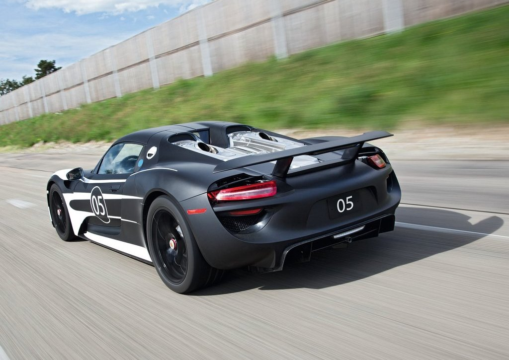2012 Porsche 918 Spyder Prototype Rear Angle (Photo 4 of 6)