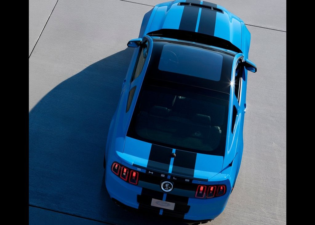2013 Ford Mustang Shelby GT500 Top View (View 7 of 27)