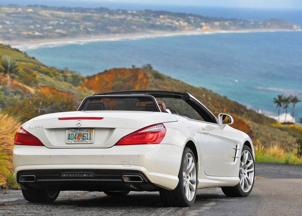 2013 Mercedes Benz SL550 Rear Angle (View 4 of 18)