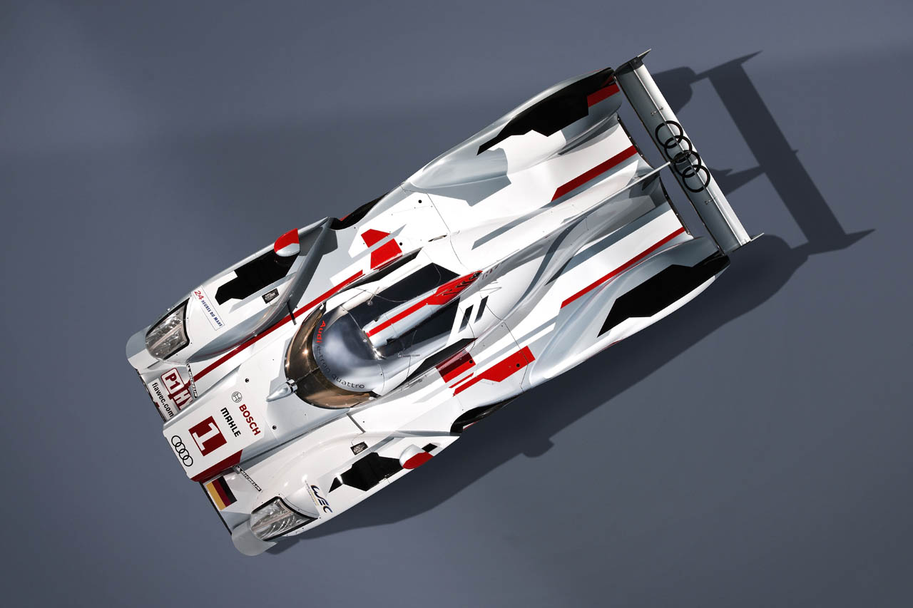 2012 Audi R18 E Tron Hybrid Quattro Top View (Photo 4 of 4)