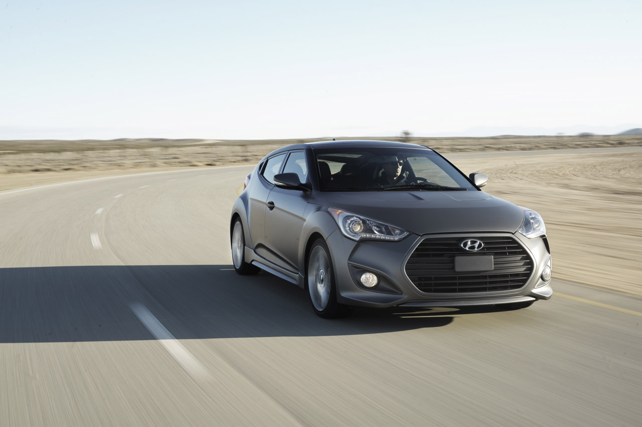 2013 Hyundai Veloster Turbo Front View (Photo 5 of 11)