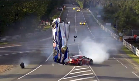Featured Image of Massive Crash At 24 Hours Le Mans