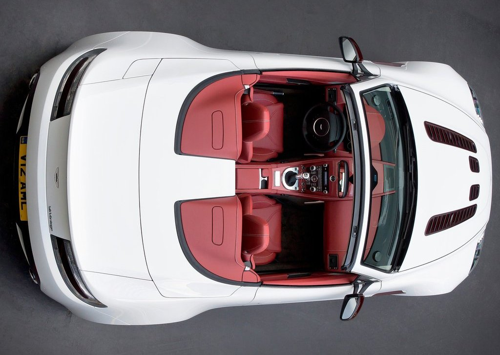 2013 Aston Martin V12 Vantage Roadster Top View (Photo 12 of 12)