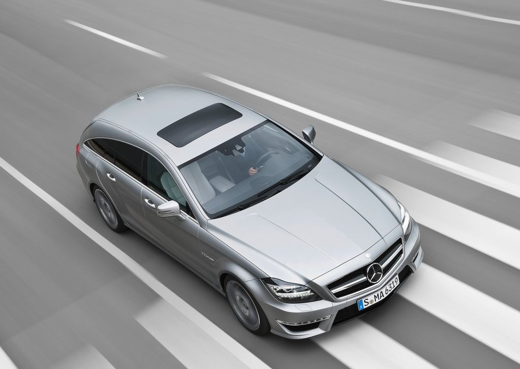 2013 Mercedes Benz CLS63 AMG Shooting Brake Top View (View 7 of 8)