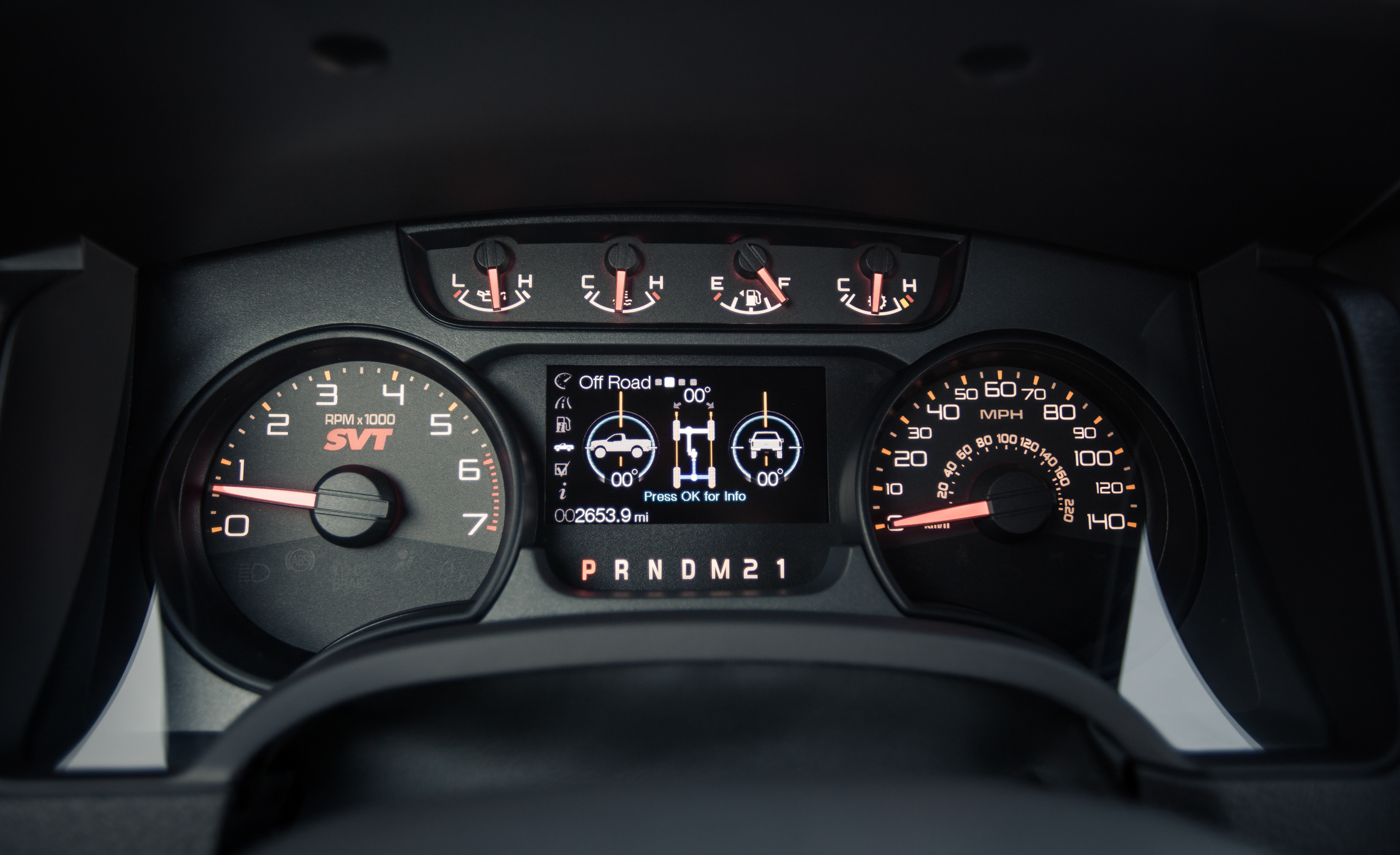 2013 Ford F 150 SVT Raptor SuperCab Interior View Instrument Cluster (Photo 27 of 39)