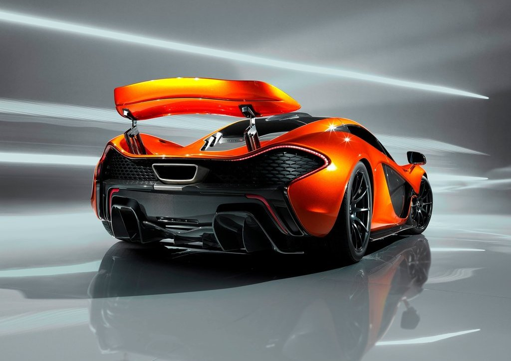 2012 McLaren P1 Rear Angle (Photo 4 of 6)