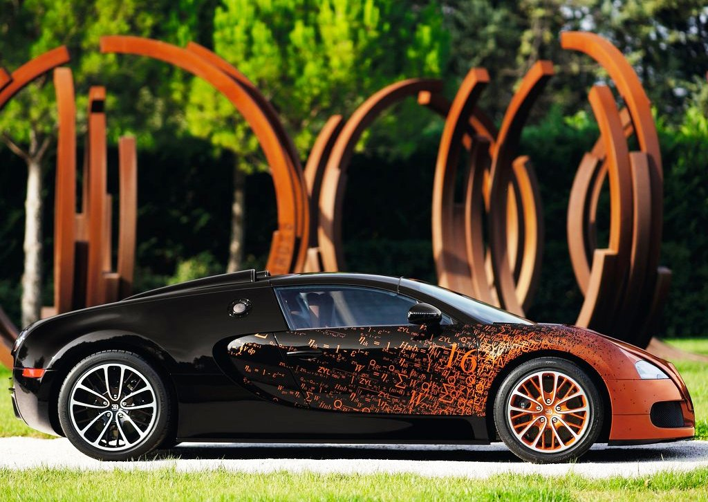 2012 Bugatti Veyron Grand Sport Bernar Venet Side View (Photo 5 of 6)