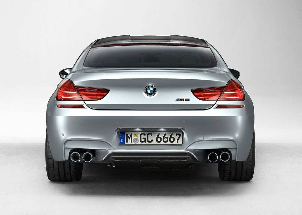 2014 BMW M6 Gran Coupe Rear View (Photo 7 of 9)