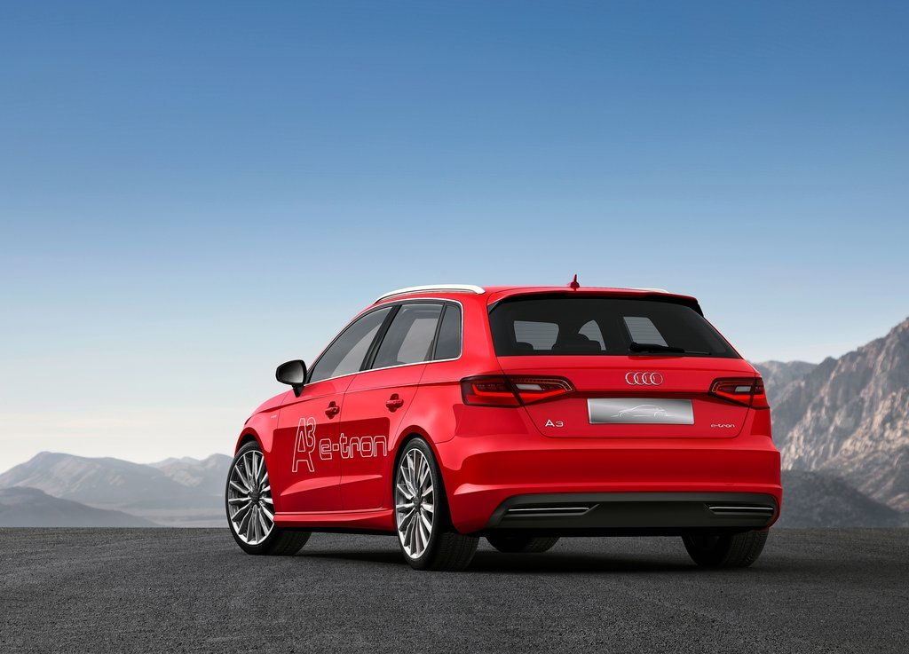 2013 Audi A3 E Tron Concept Rear Angle (Photo 5 of 8)
