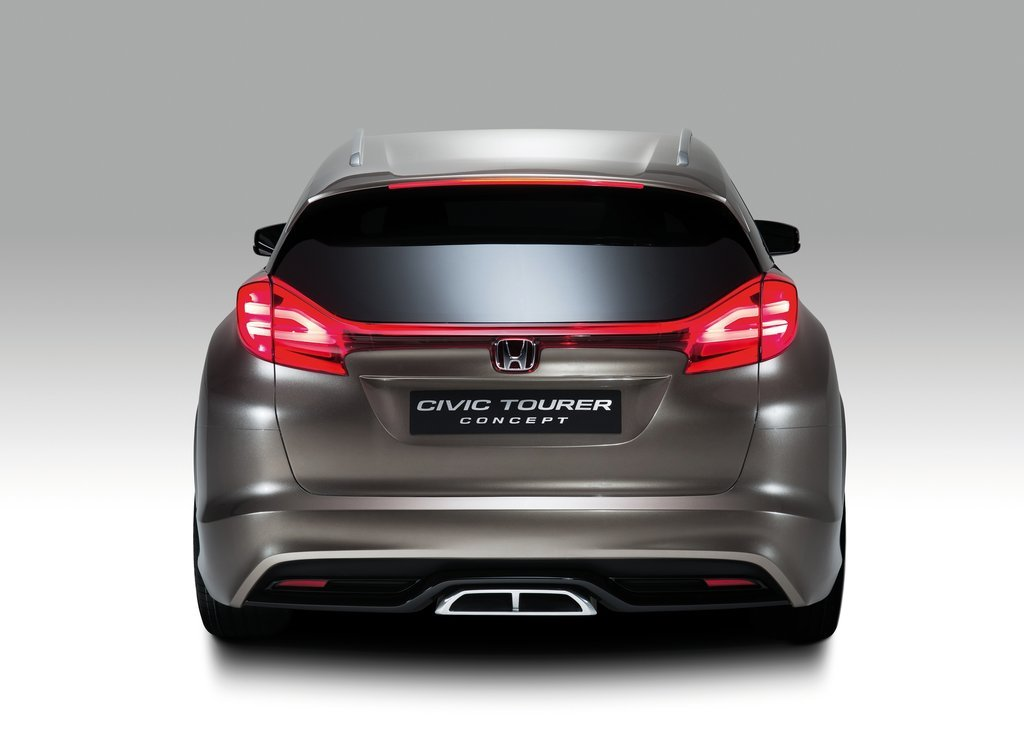2013 Honda Civic Tourer Concept Rear View (View 4 of 6)