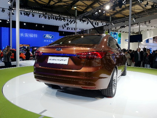 2013 Ford Escort Concept Rear View (Photo 4 of 7)