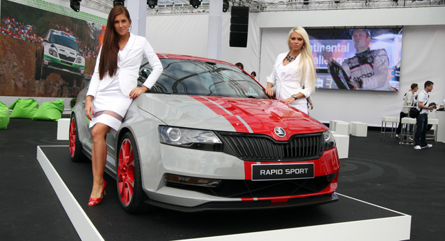 2013 Skoda Rapid Sport Debut At Worthese (Photo 7 of 13)