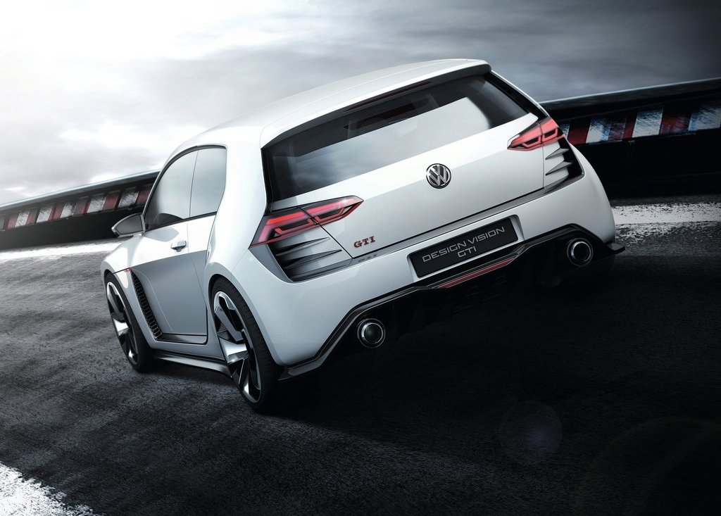 2013 Volkswagen Design Vision GTI Rear View (Photo 6 of 6)