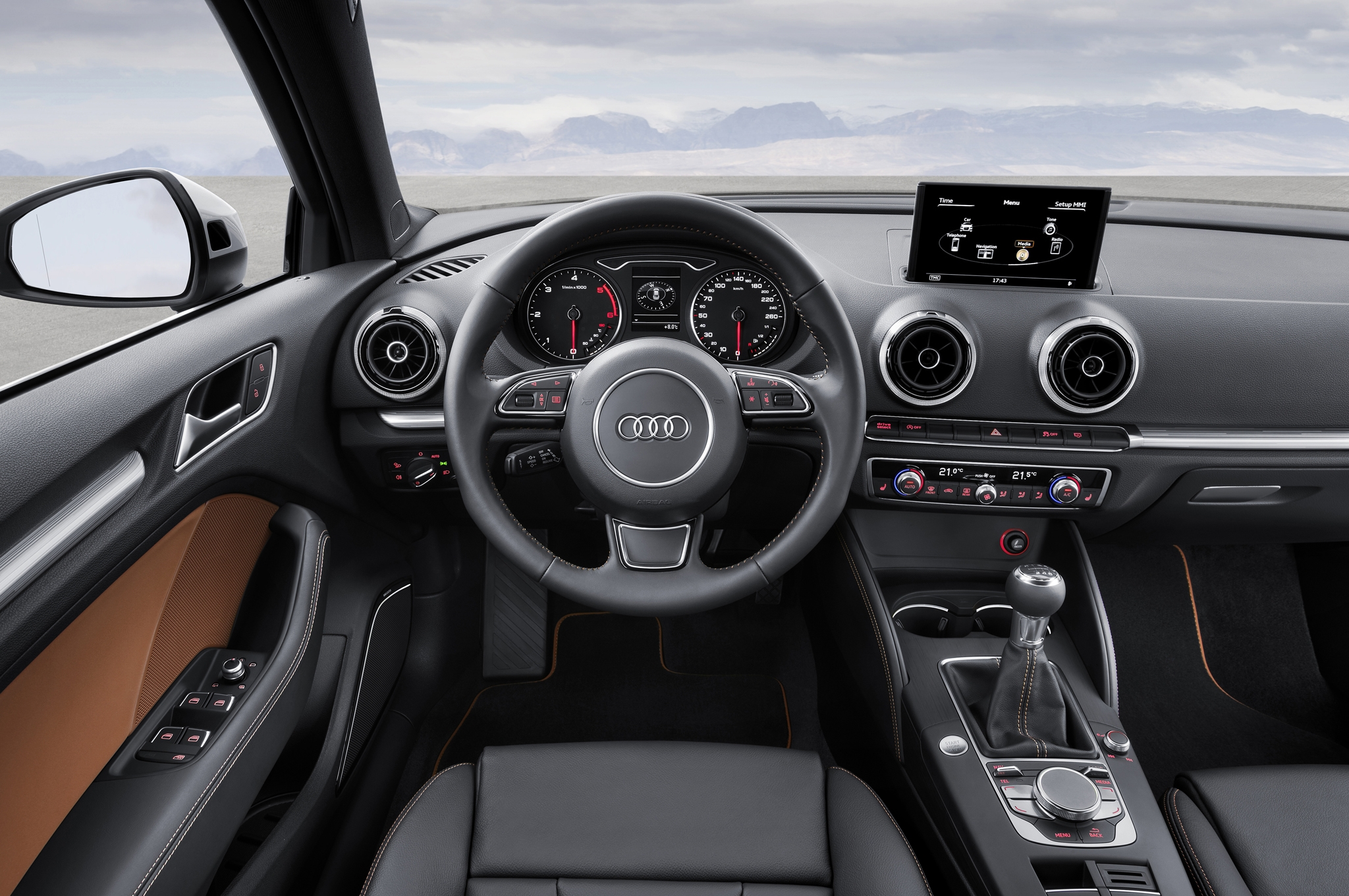 2015 Audi S3 Sedan Cockpit And Dashboard Interior (Photo 2 of 10)