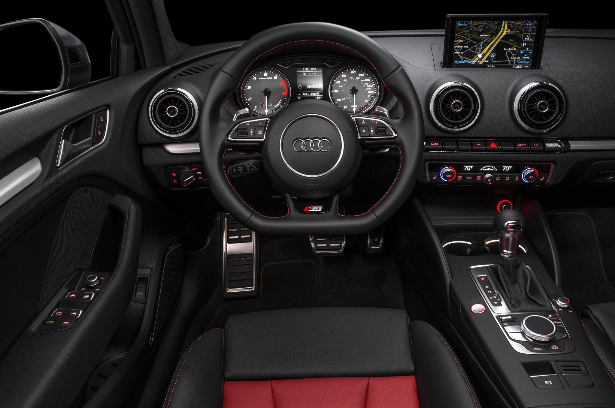 2015 Audi S3 Sedan Limited Edition Cockpit Interior (Photo 6 of 10)