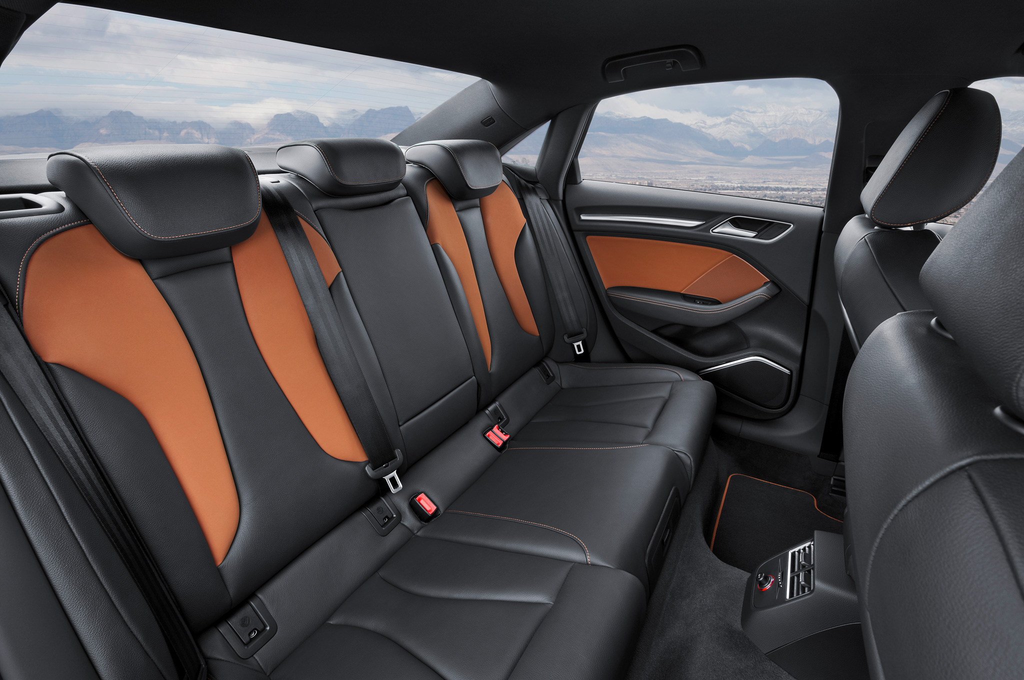 2015 Audi S3 Sedan Rear Seats Interior (Photo 7 of 10)