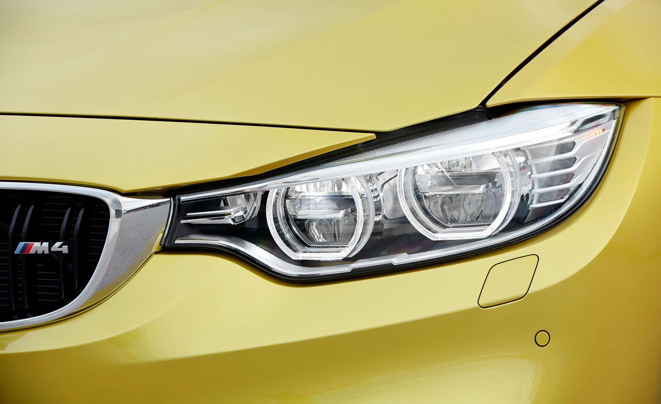 2015 BMW M4 Coupe Badge And Headlight (Photo 16 of 41)