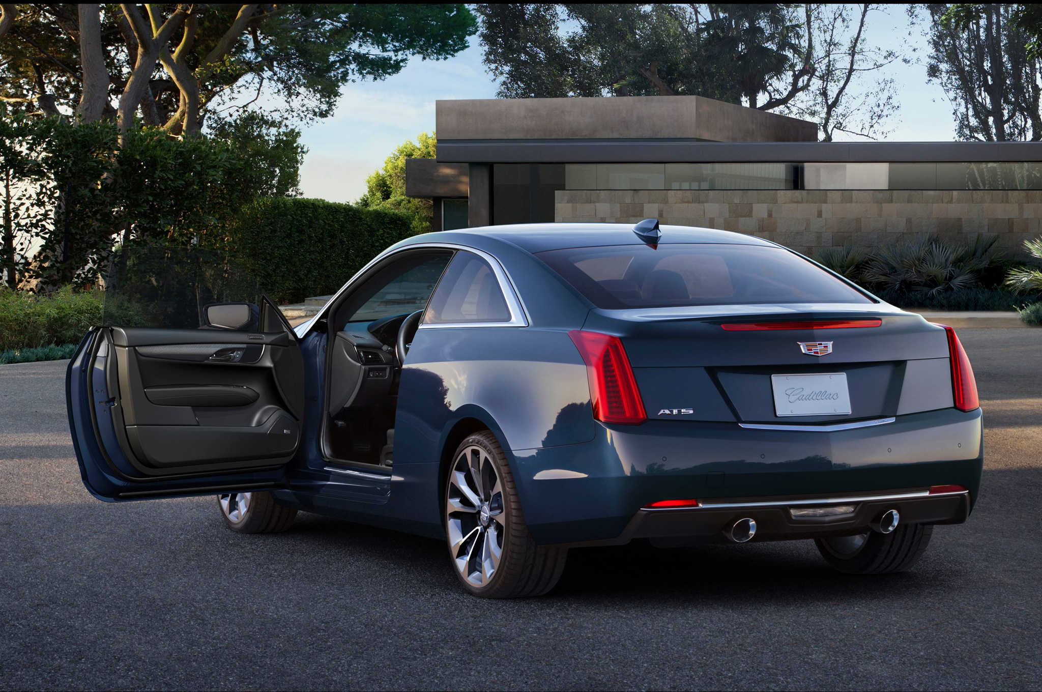 2015 Cadillac Ats Coupe Rear Side Exterior (View 19 of 21)