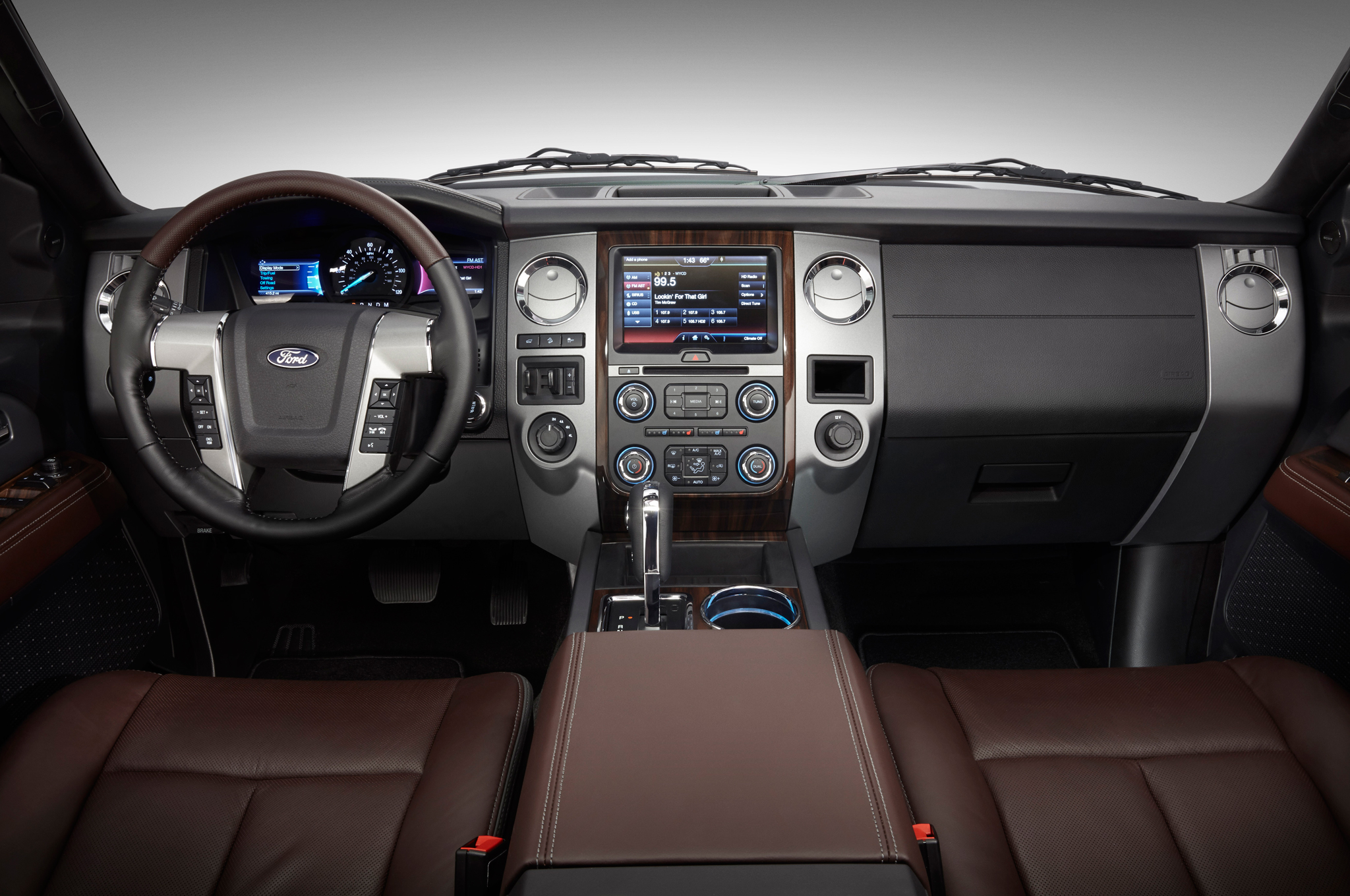 2015 Ford Expedition Front Interior And Dashboard (Photo 3 of 6)