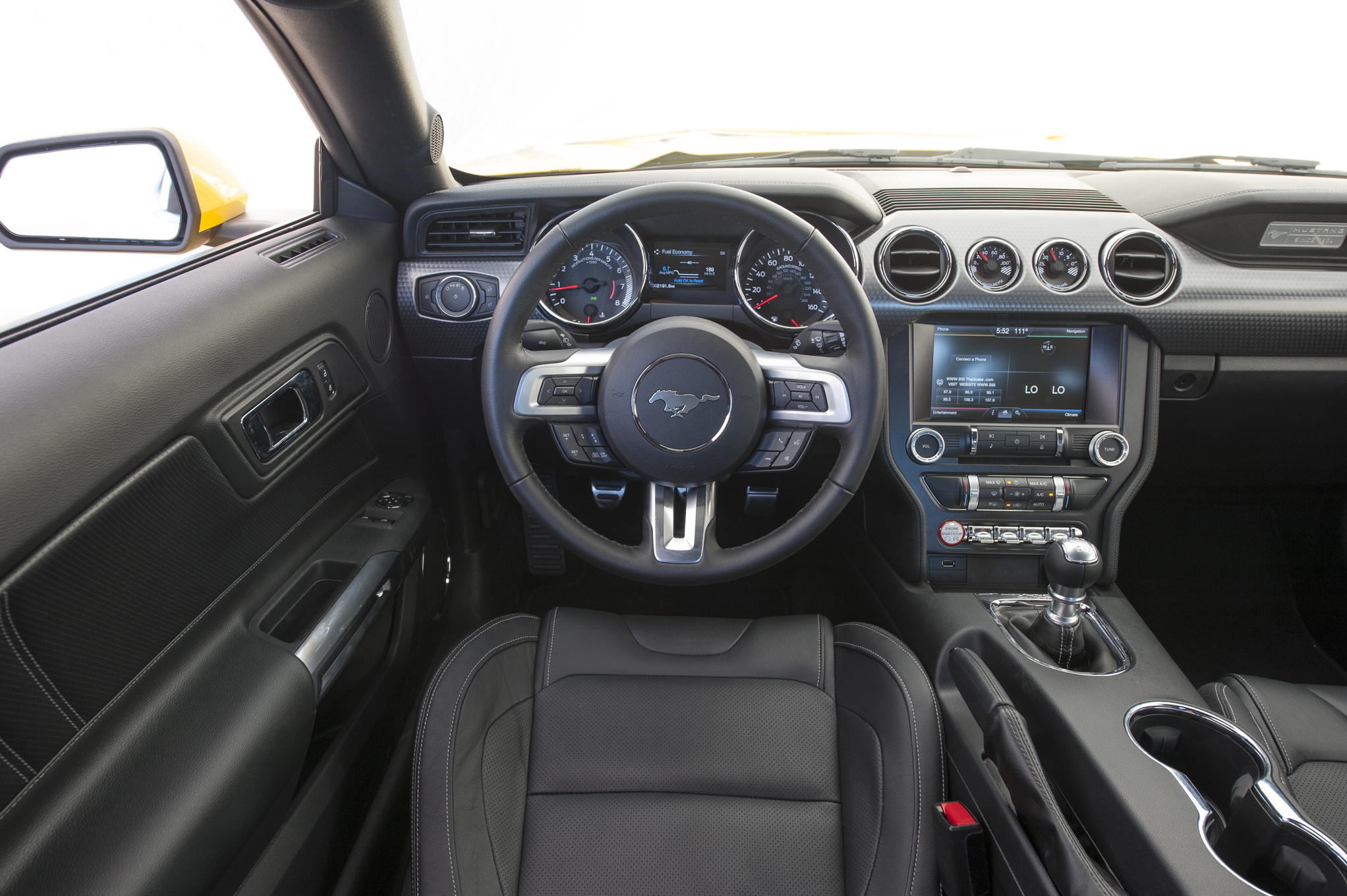 2015 Ford Mustang Gt Cockpit And Speedometer (Photo 5 of 30)
