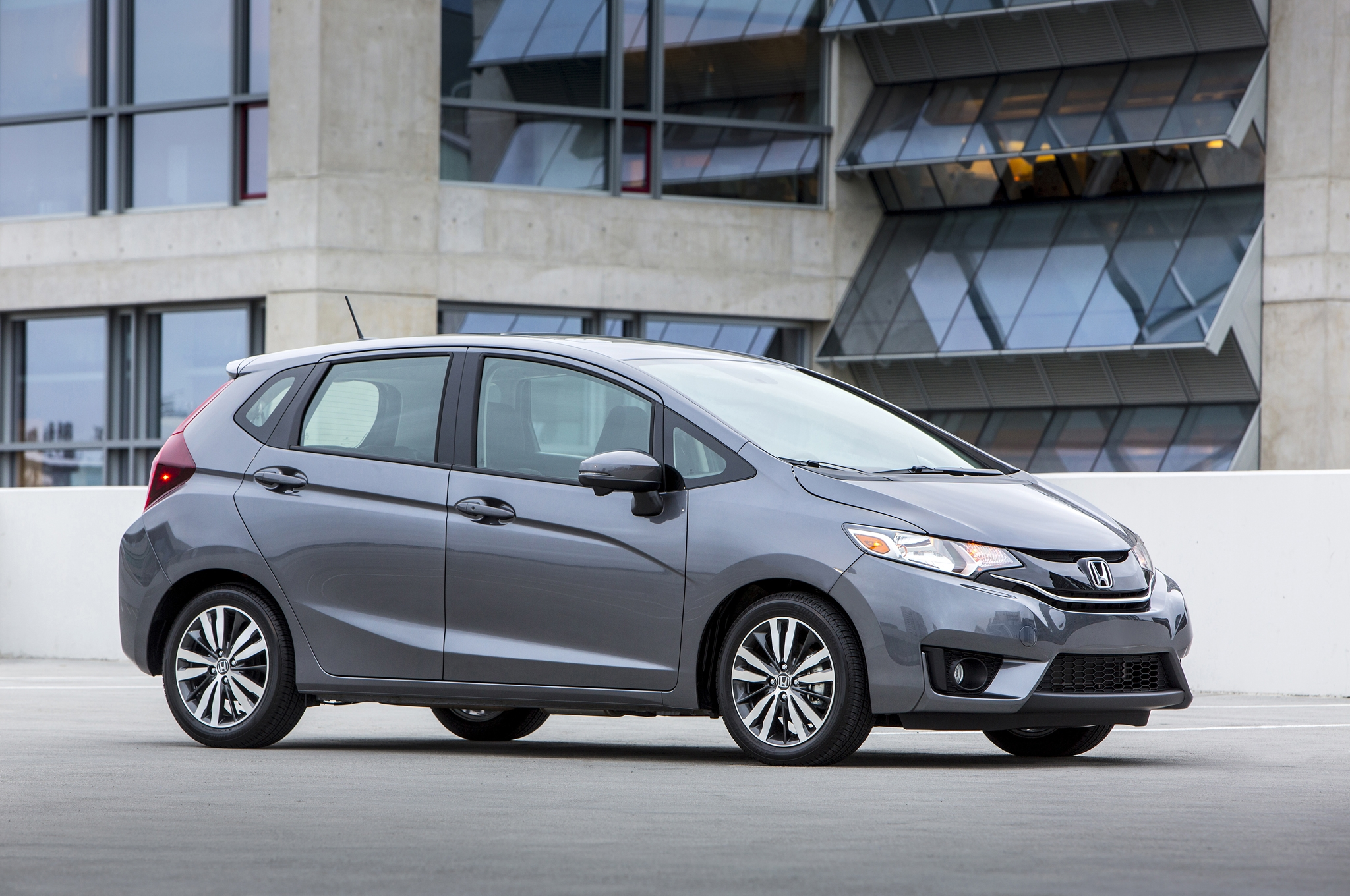 2015 Honda Fit Grey Side View (View 6 of 16)