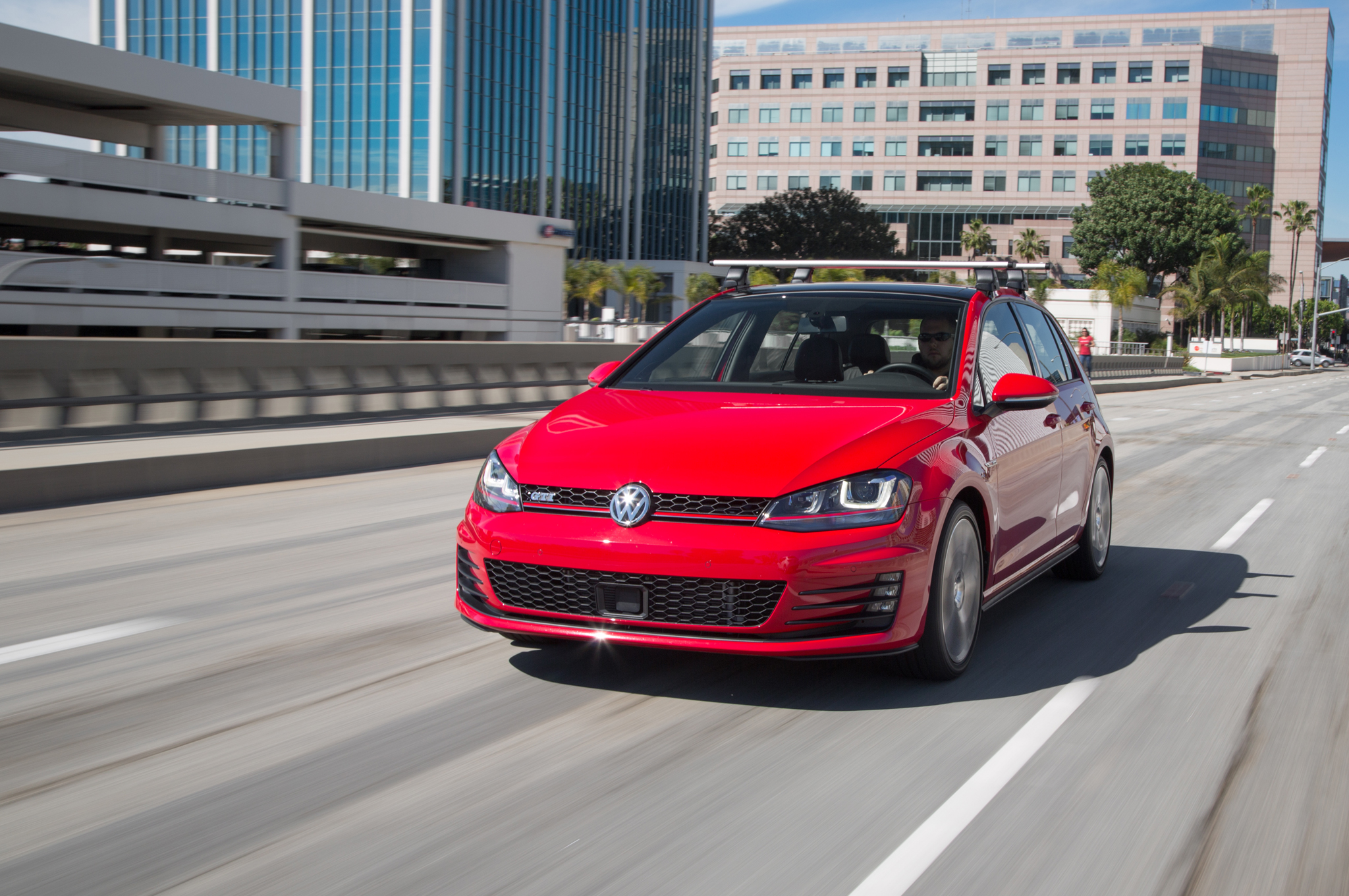 2015 Volkswagen Golf Gti Red With Roof Rack (View 25 of 55)