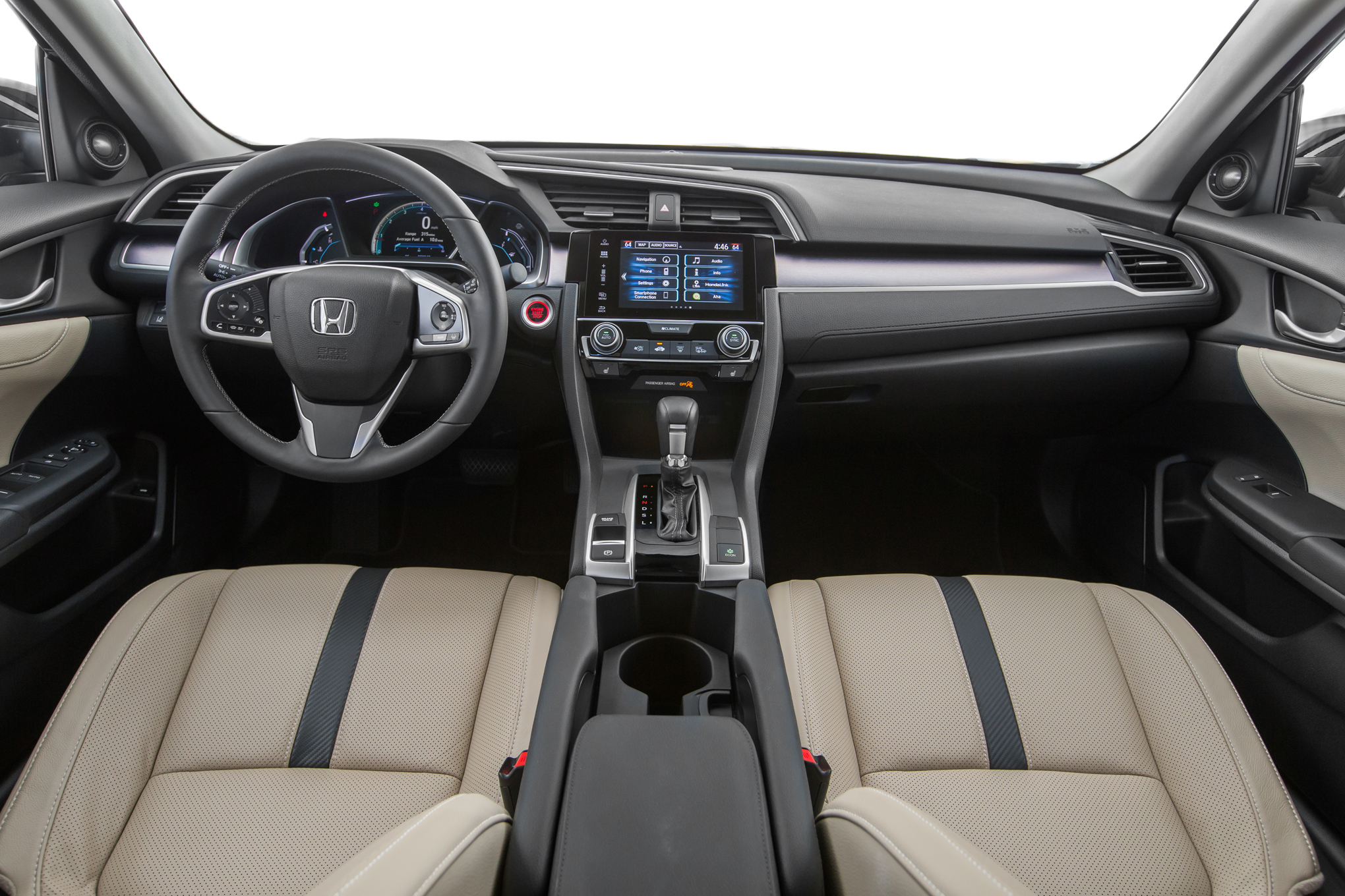 2016 Honda Civic Touring Sedan Interior (View 1 of 36)