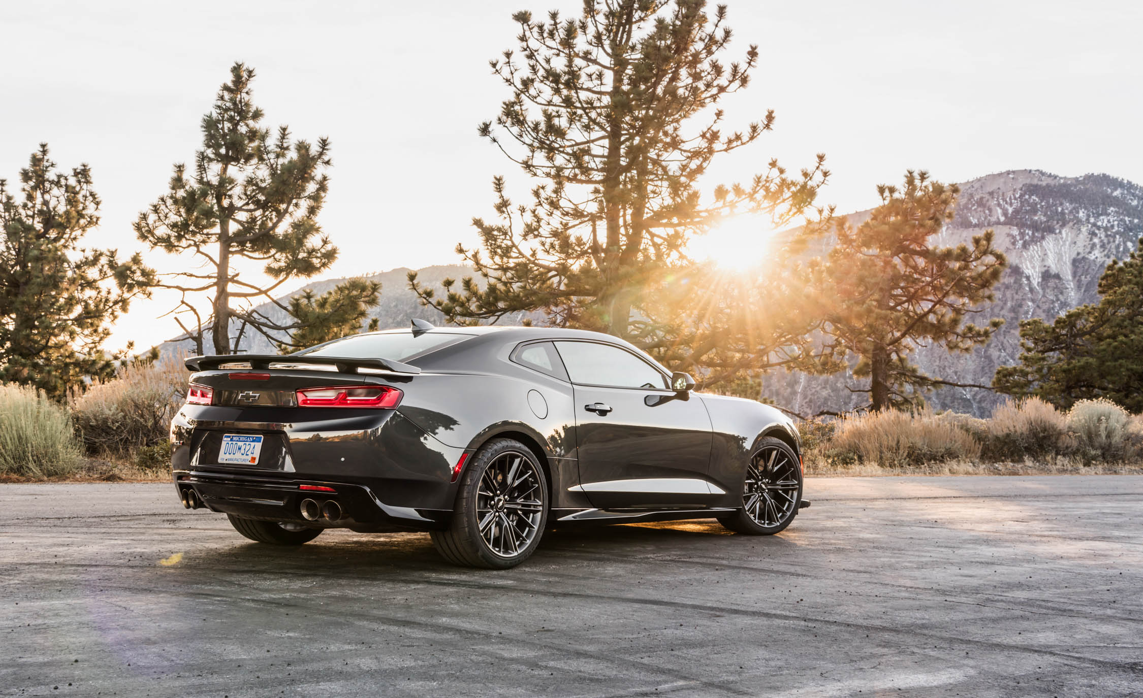 2017 Chevrolet Camaro Zl1 Grey Exterior Rear And Side