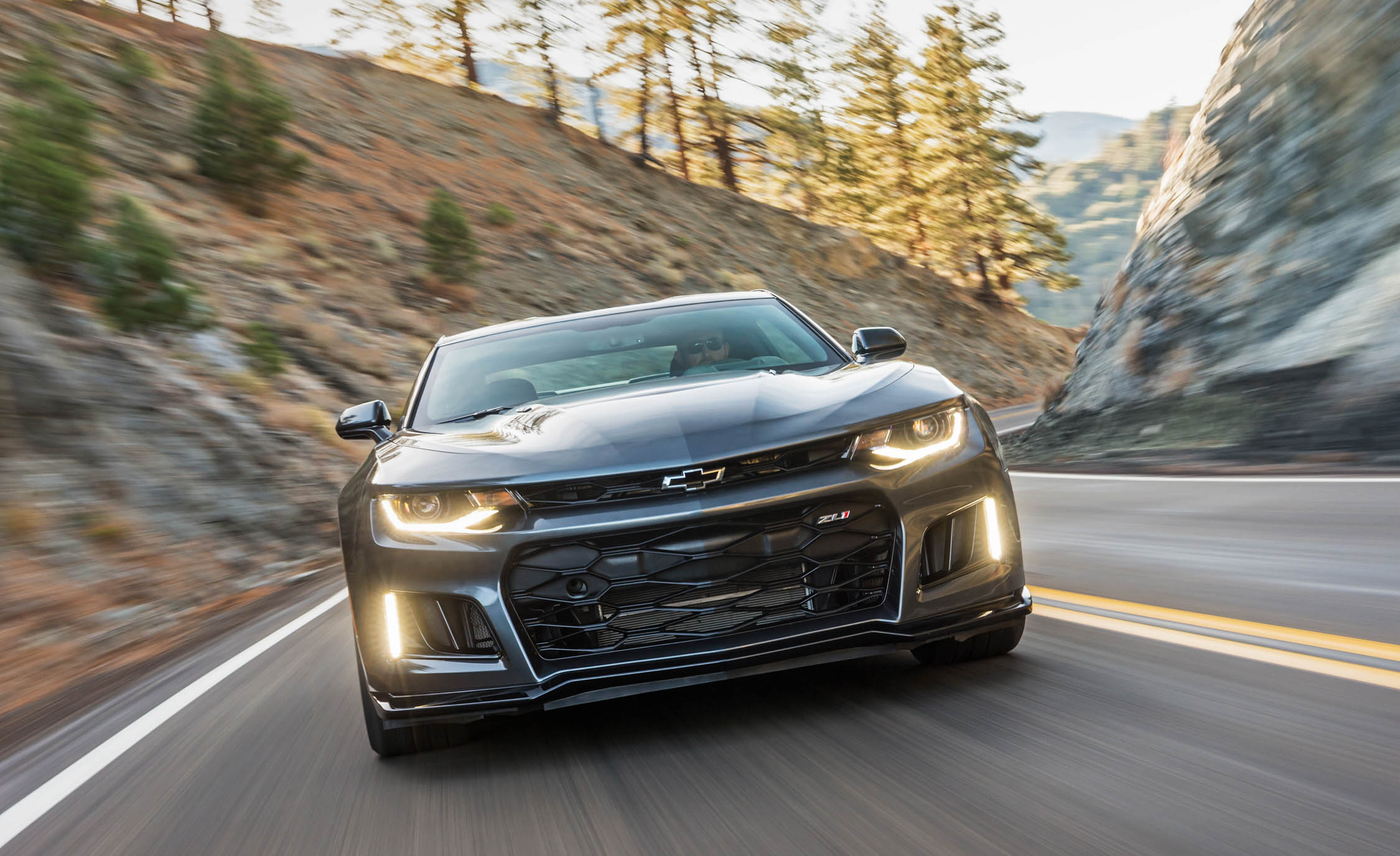 2017 Chevrolet Camaro ZL1 Grey Test Drive Front DRL On (Photo 18 of 62)