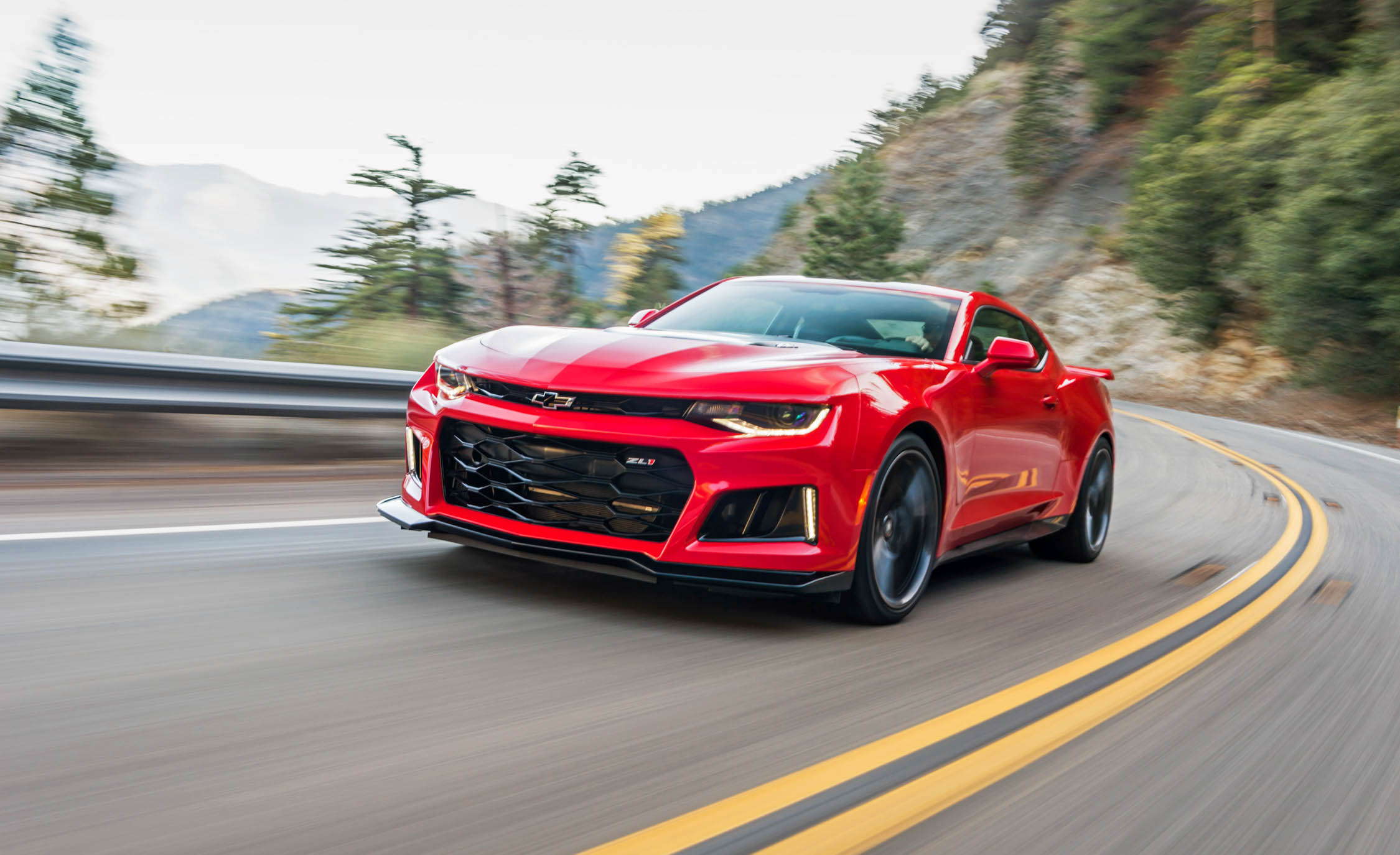 2017 Chevrolet Camaro ZL1 Red Test Drive Front And Side (Photo 35 of 62)