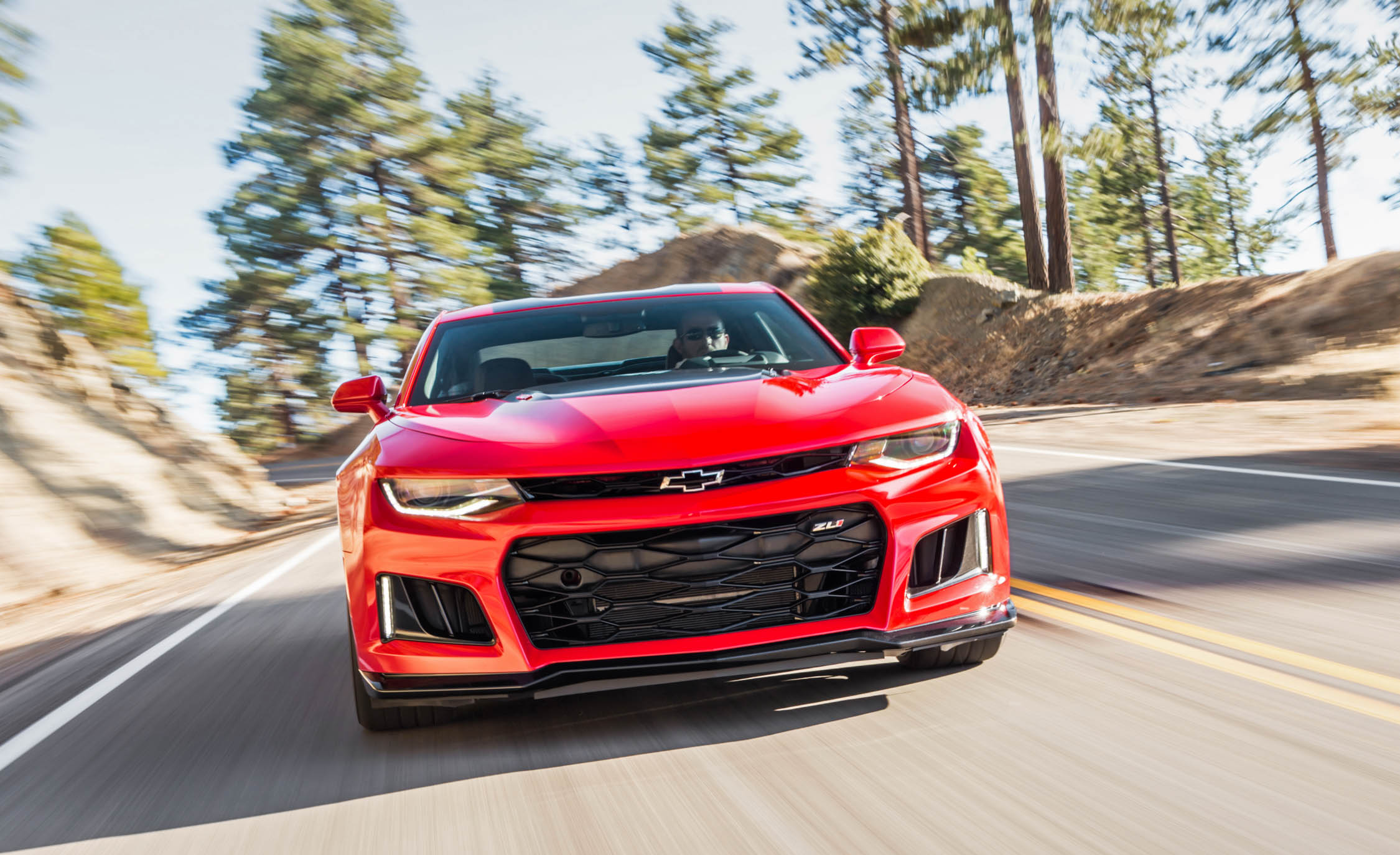2017 Chevrolet Camaro Zl1 Red Test Drive Front Preview