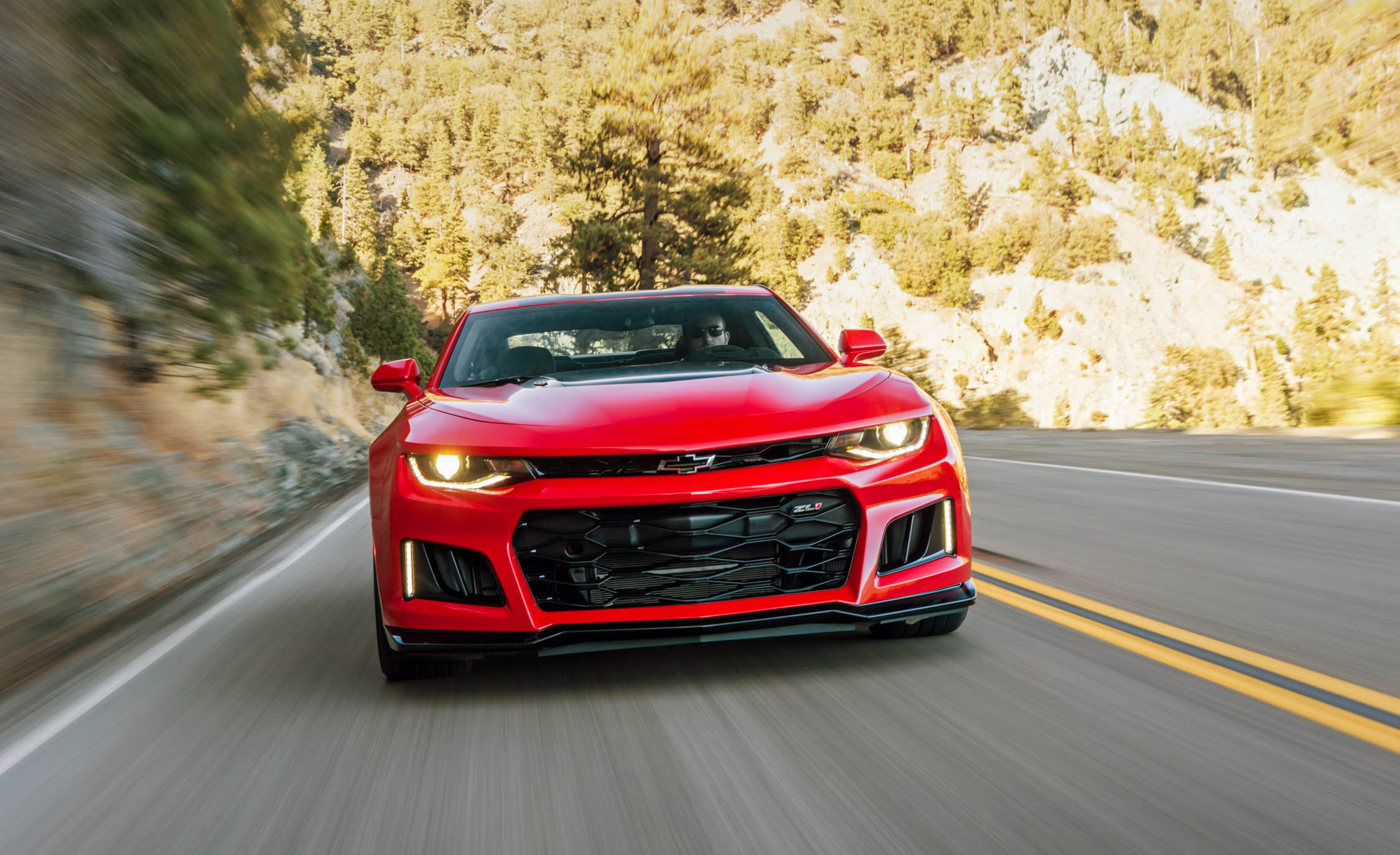 2017 Chevrolet Camaro ZL1 Red Test Drive Front View (Photo 39 of 62)
