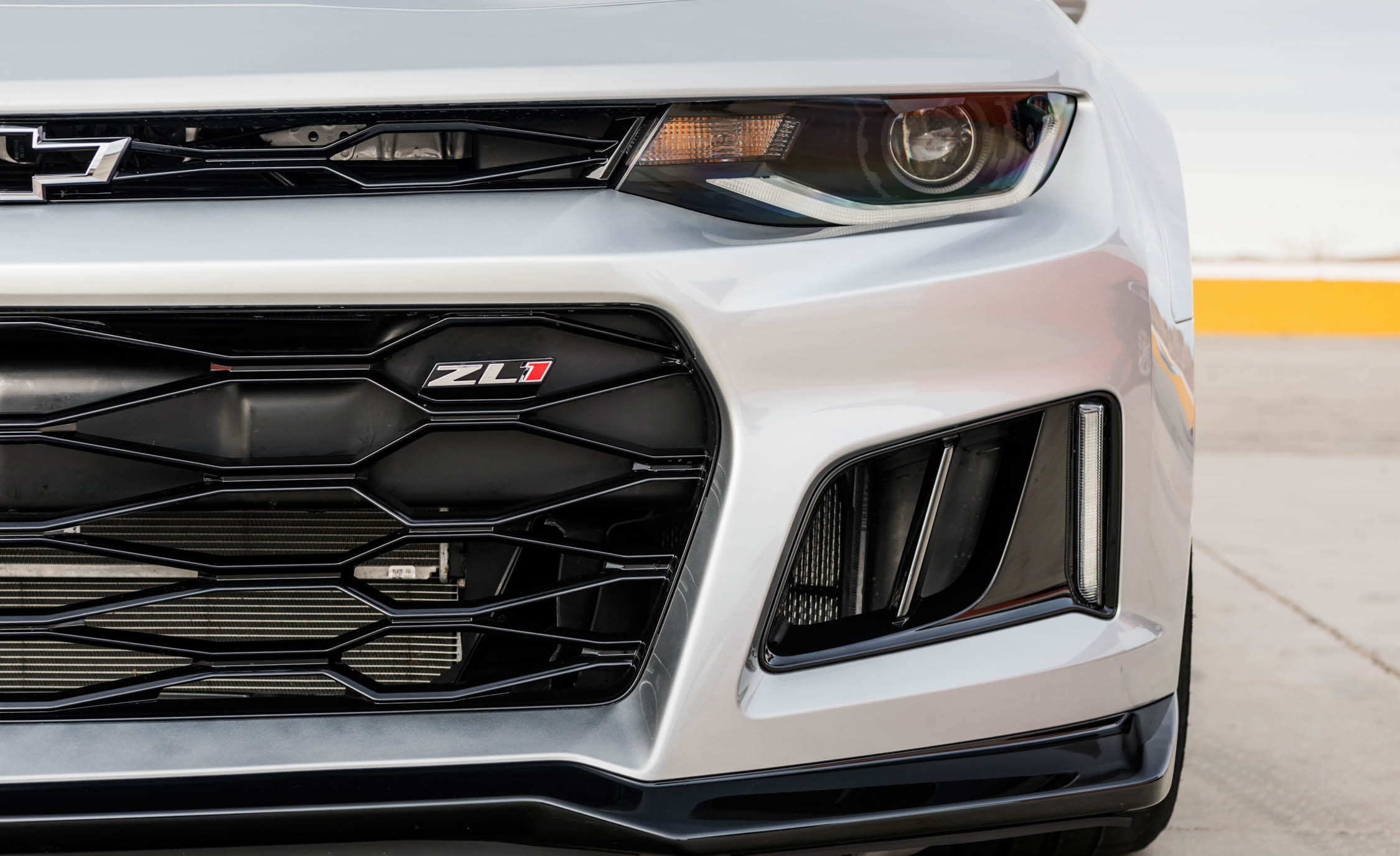 2017 Chevrolet Camaro ZL1 White Exterior View Grille And Bumper (Photo 49 of 62)
