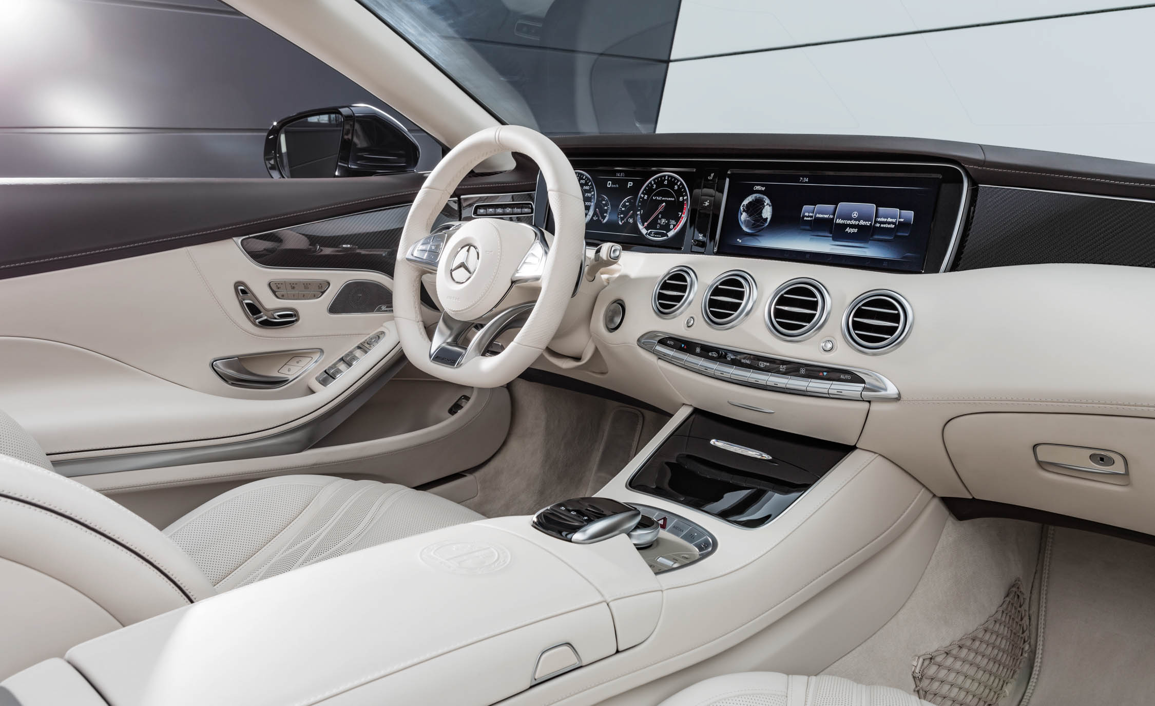 2017 Mercedes Amg S65 Cabriolet Interior Dashboard And Headunit Multimedia (Photo 12 of 15)