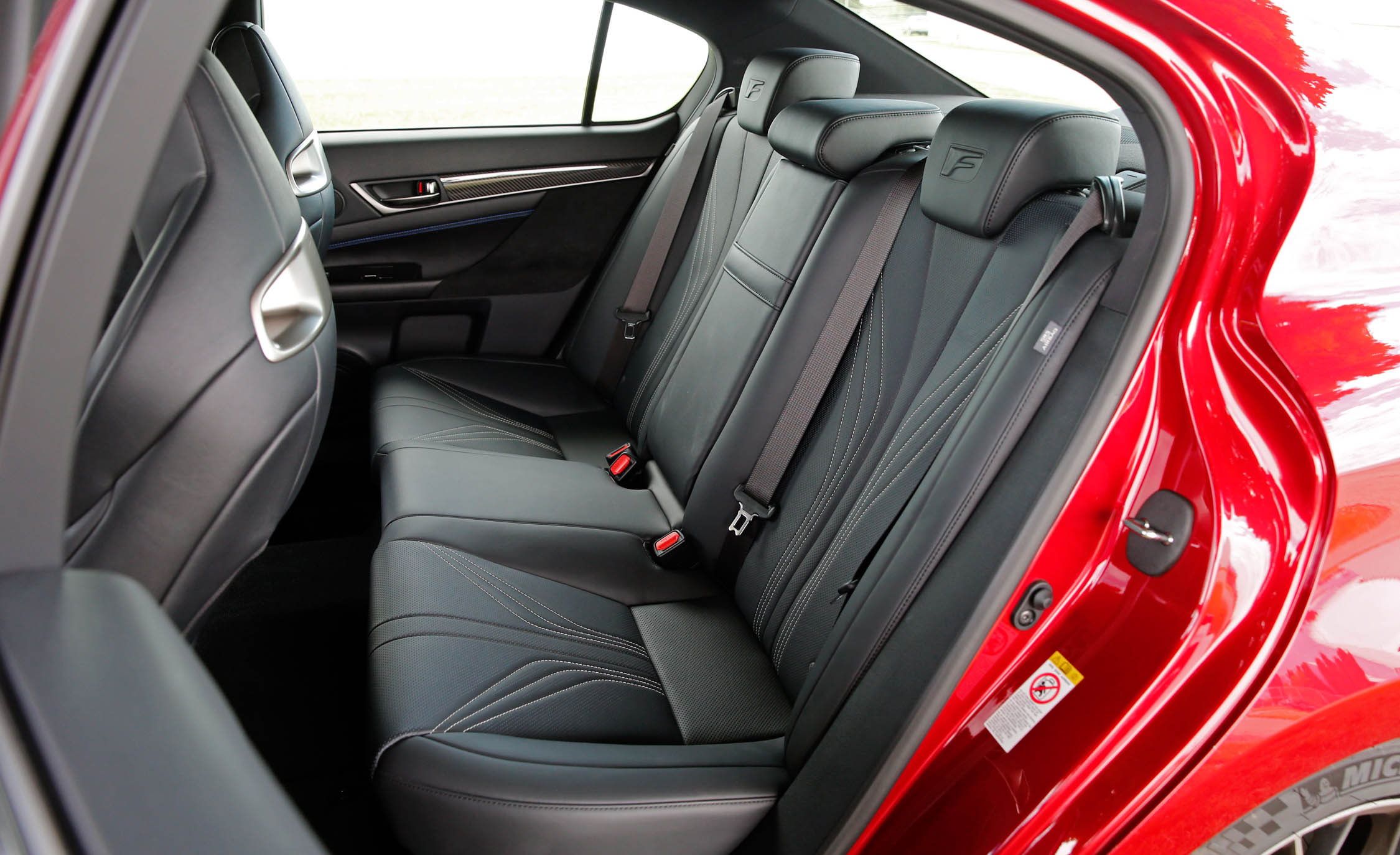 2016 Lexus Gs F Interior Seats Rear (Photo 9 of 20)