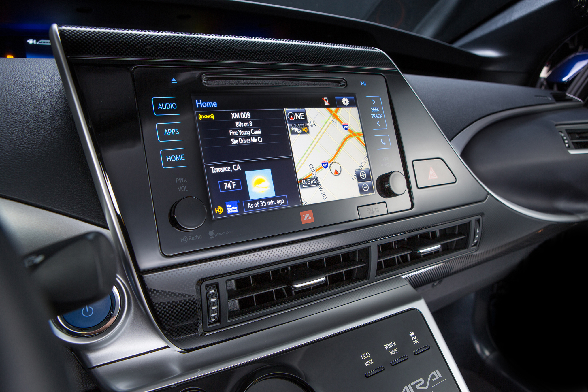2016 Toyota Mirai Head Unit Screen (View 15 of 18)