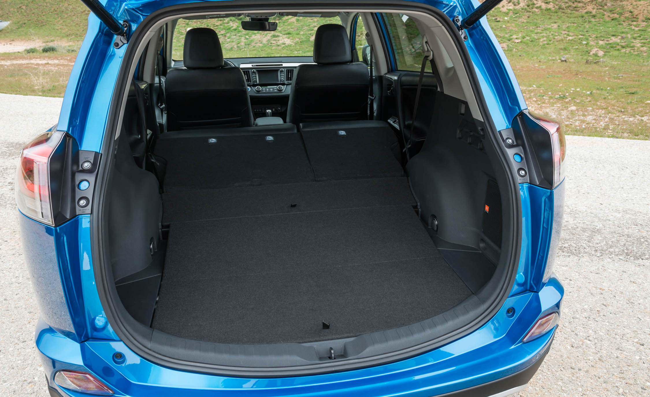 2016 Toyota Rav4 Hybrid Interior Cargo Space With Folded Seats (Photo 16 of 26)