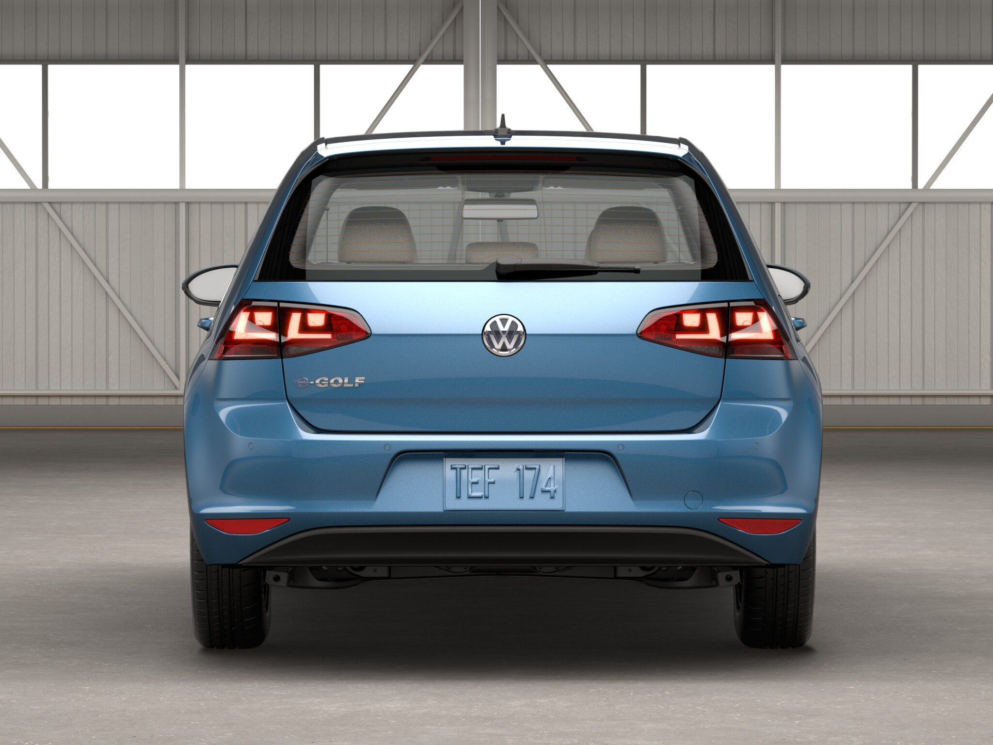 2016 Volkswagen E Golf Rear End View (View 5 of 11)